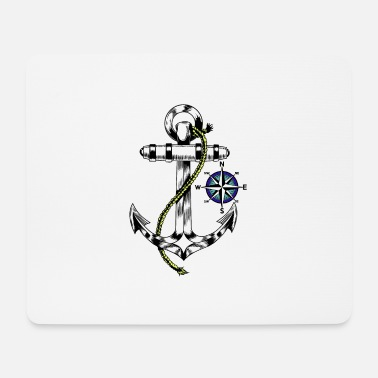 Anchor Maritime anchor windrose - Mouse Pad