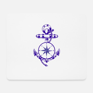 Maritime Anker Maritime Maritime Compass - Mouse Pad