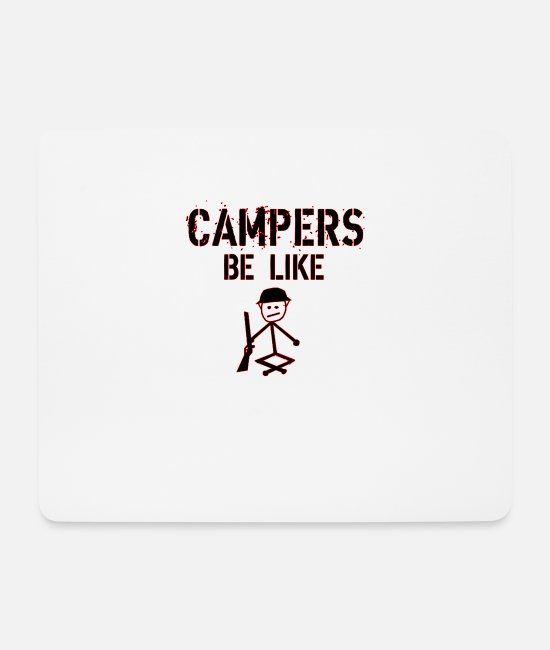 Play Mouse Pads - Camper gaming - Mouse Pad white