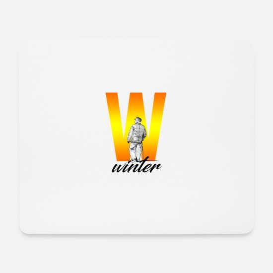 Boarders Mouse Pads - Winter sports grandpa - Mouse Pad white