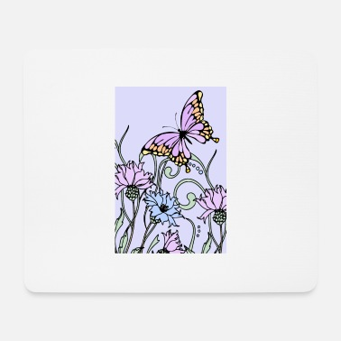 Illustration butterfly - Mouse Pad