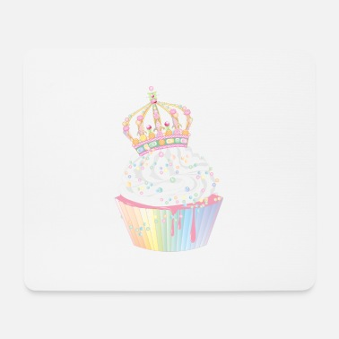 Tooth sugary cupcake with candy candy crown - Mouse Pad