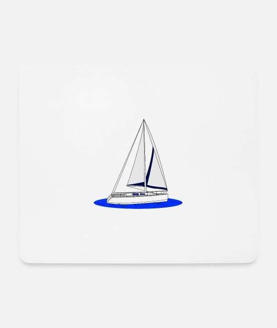 Training Mouse Pads - sailboat - Mouse Pad white