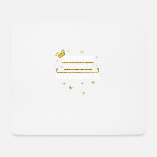 Love Mouse Pads - queensborn NOVEMBER - Mouse Pad white