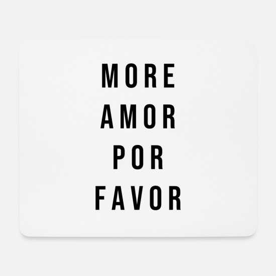 Amor Mouse Pads - More Cupid Por Favor - Black - Mouse Pad white