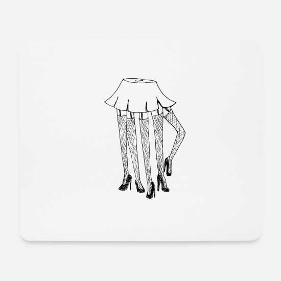 Amazing Mouse Pads - Spinnenschulmädchen in skirt - Mouse Pad white