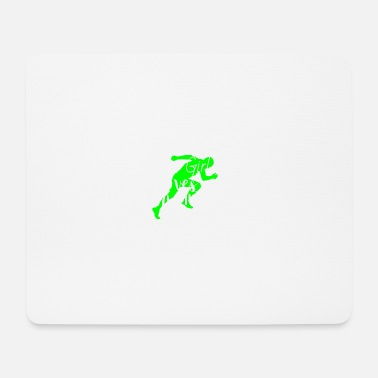 Renner This Girl loves running | Joggen Marathon laufen - Mousepad (Querformat)