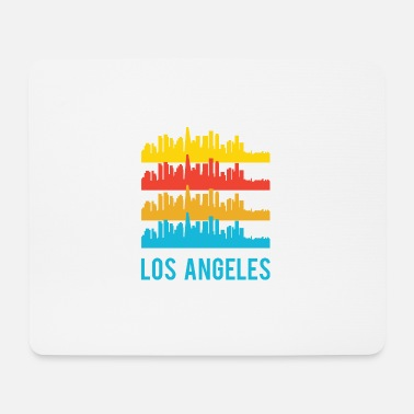 Graphic Art Pop Art / Graphic Novel: Los Angeles Skyline - Muismatje (landscape)