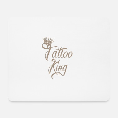 Tattoo geschenk king taetowiert nadel needle tattoo - Mousepad (Querformat)