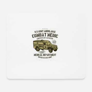 United Fahrzeug USA Amerika Army united medical star ster - Mousepad (Querformat)