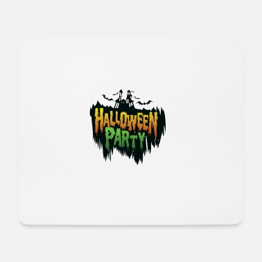 Undead Helloween Party - Schloss - Fledermaus - Mousepad (Querformat)