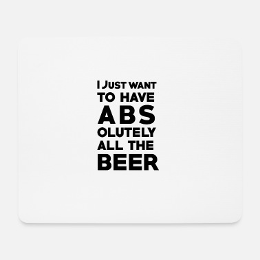Bauch Fitness Bier Shirt - Mousepad (Querformat)