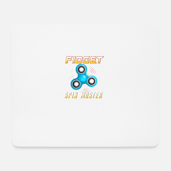 Fidget Spinner Mouse Pads - Fidget Spin Master - Mouse Pad white