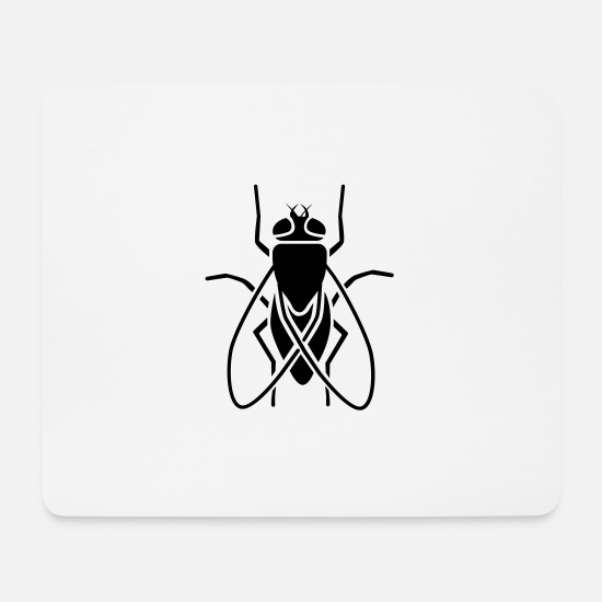 Wing Mouse Pads - Insect - fly - Mouse Pad white