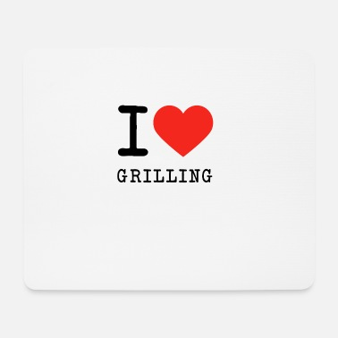Grill Love I love grilling - Mouse Pad