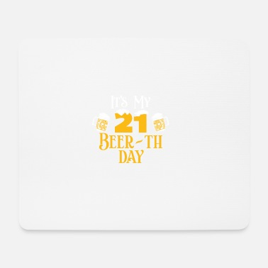 Birthday Lover 21 21st Birthday Gift Beer Beer Gift Idea - Mouse Pad