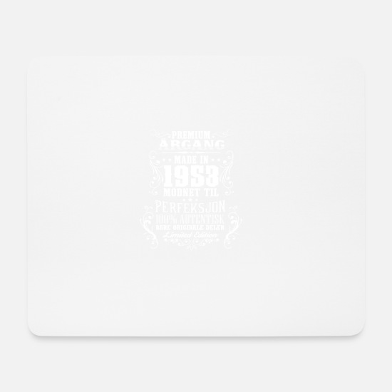 Birthday Mouse Pads - 1953 65 premium årgang bursdag gave NO - Mouse Pad white