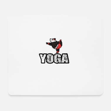 New Age Yoga Dancing Bear Vintage Retro New Age - Tapis de souris (format paysage)