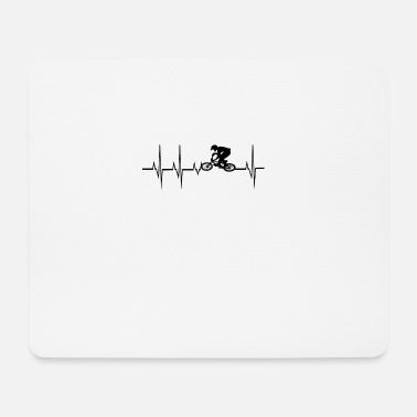 Crossbike Heartbeat Mountainbike Crossbike - Mouse Pad
