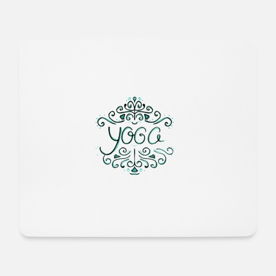Yoga Mouse Pads - yoga - Mouse Pad white
