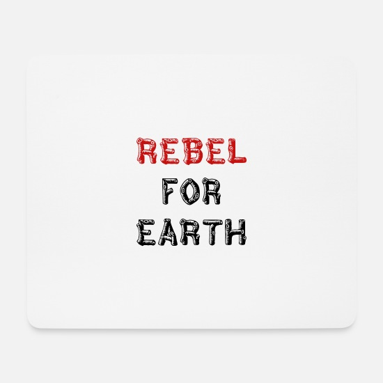 Save The Bees Mousepads  - Rebel for Earth - Mousepad Weiß
