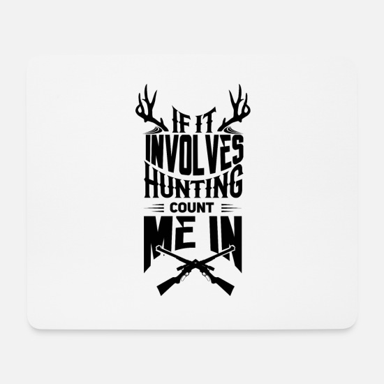 Stag Mouse Pads - Hunt - Hunter Shirts - Mouse Pad white