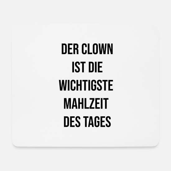 Clown Mousepads  - Der Clown (v) - Mousepad Weiß