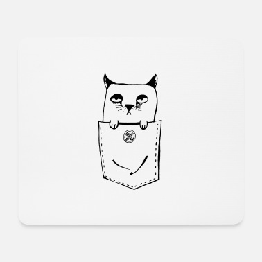 Cat in a poke - Kitty in a breast pocket - Cat - Mouse Pad