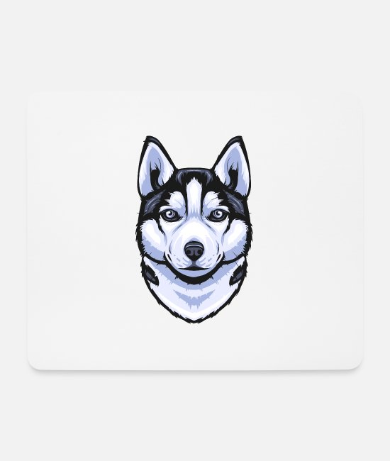 Boss Mouse Pads - Siberian Husky - Mouse Pad white