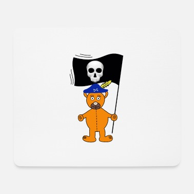 Bar Teddy Piraten Seeräuber Fahne Totenkopf - Mousepad
