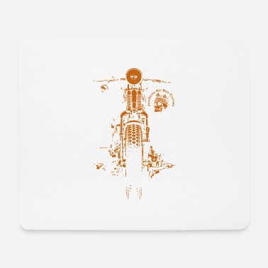 Biker Chopper Bobber Moto Springer Biker Rocker - Tapis de souris