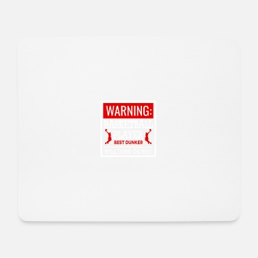 Streetball Warning basketball players darker - Mouse Pad