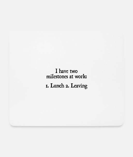 Office Mouse Pads - Office humor work profession official office gift boss - Mouse Pad white