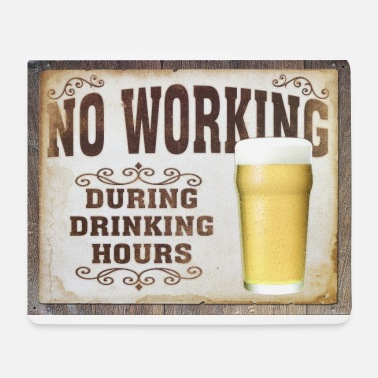 No Work no working - Mouse Pad