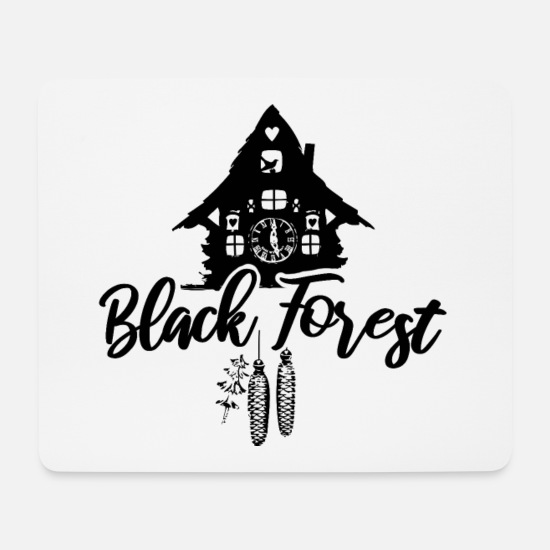 Love Mouse Pads - Black Forest - Mouse Pad white