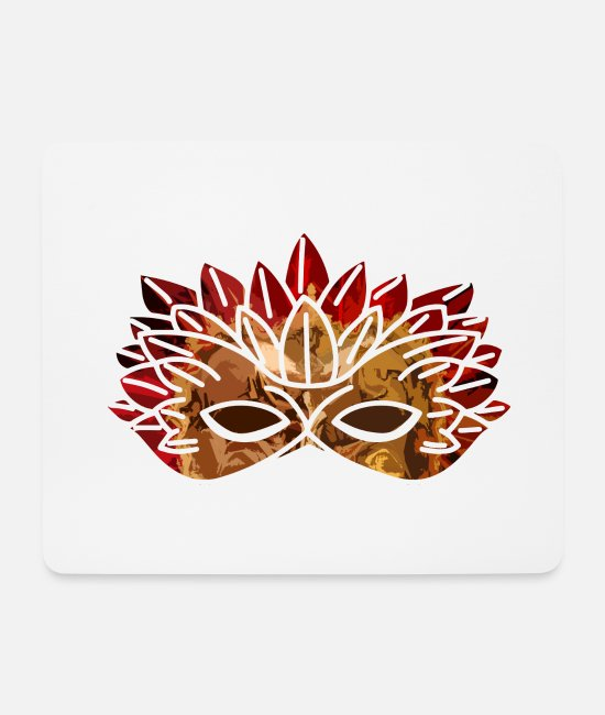 Feathers Mouse Pads - mask - Mouse Pad white