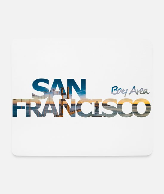 San Francisco Mouse Pads - San Francisco Bay Area - gift - Mouse Pad white