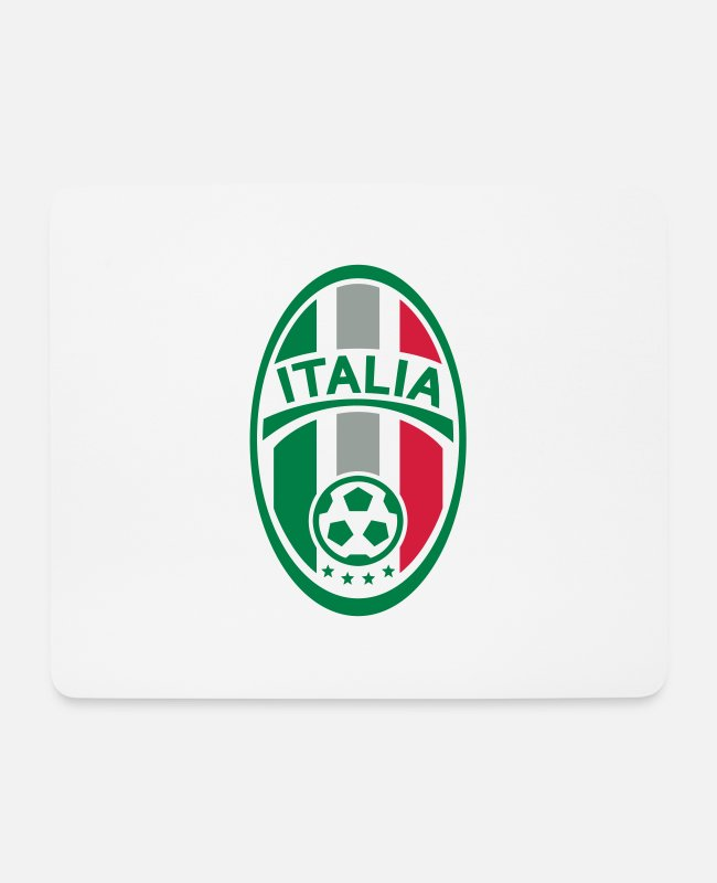 National Team Mouse Pads - Football Badge (Italy) - Mouse Pad white