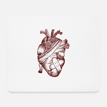 Injured Heart and wound dressing - Mouse Pad