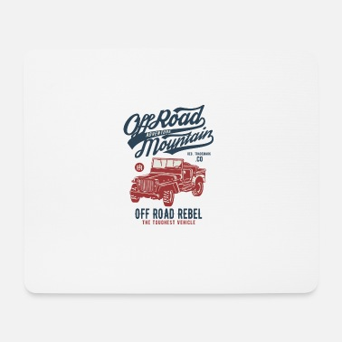 Off Off Road Jeep - Mousepad (Querformat)