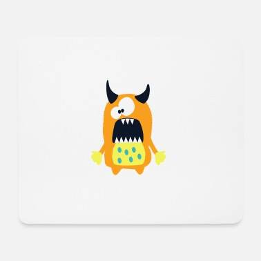 Hörner Monster Hannah - Süßes, braunes Monster - Mousepad (Querformat)