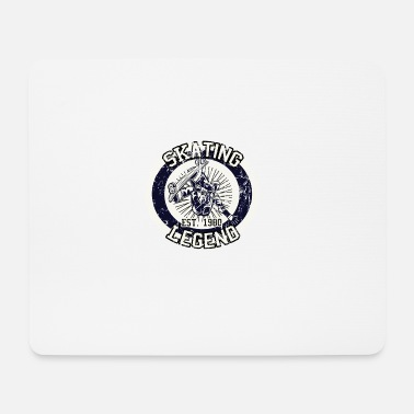 Skateboarder Skating Legende Board 1980 - Mousepad
