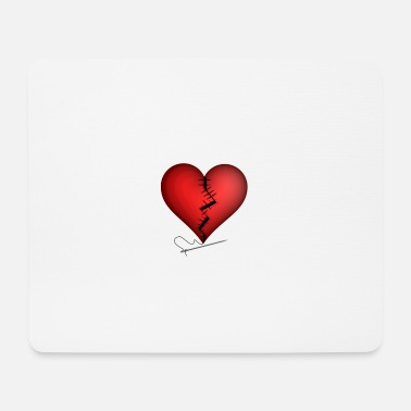 Heartache Heartache | broken heart is patched - Mouse Pad