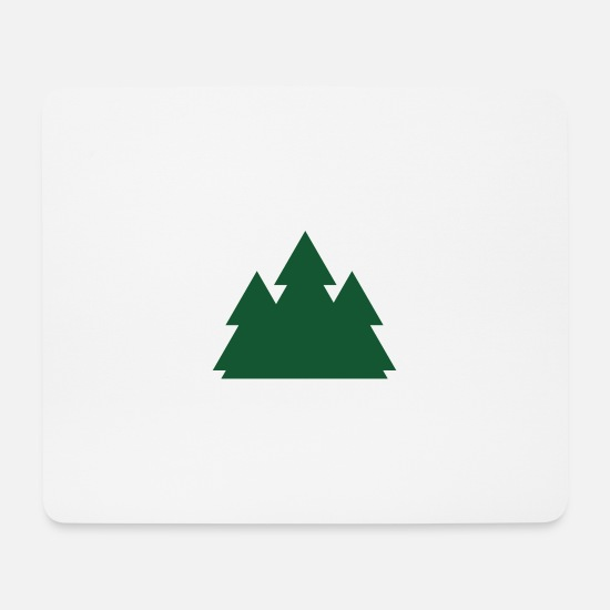 Graphic Art Mousepads  - Tannenbaum - Mousepad Weiß