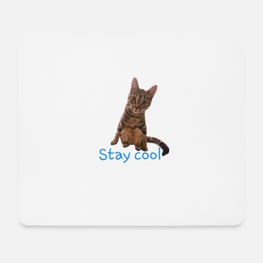 Cat stay cool - Mouse Pad