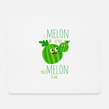 Coole I Melon to You - Melone lustig cool witzig süß - Mousepad (Querformat)