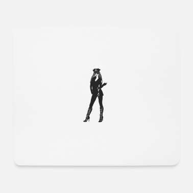 Uniform Woman in police uniform - Mouse Pad