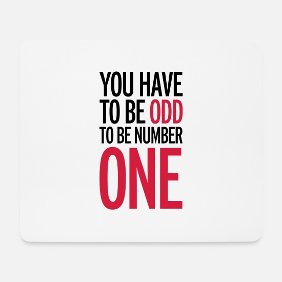 Number One Mouse Pads - Be Number One - Mouse Pad white