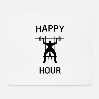 Bench Press Happy hour bench press - Mouse Pad