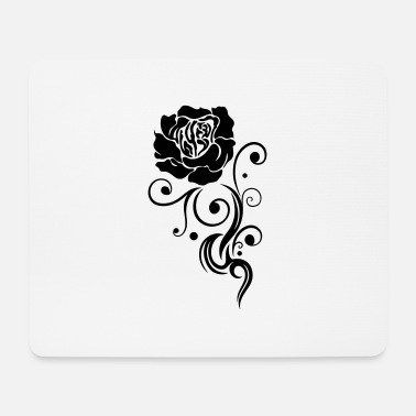 Ornament Rose mit filigranem Tribal Tattoo Ornament, in lov - Mousepad